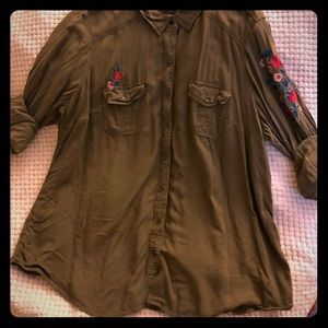 Torrid button up/cover up.